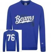 Product Image for Champion X Beams Logo Sweatshirt Blue