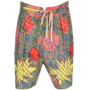 Product Image for Vivienne Westwood Printed Samurai Shorts Blue