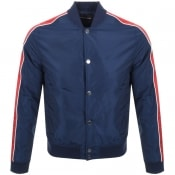 Product Image for Michael Kors Stripe Baseball Jacket Navy