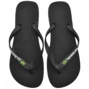 Product Image for Havaianas Brazil Logo Flip Flops Black