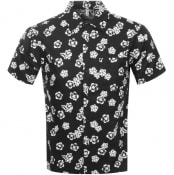 Product Image for Replay Short Sleeved Floral Shirt Black