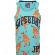 Product Image for Superdry Real Japan Logo Vest T Shirt Green