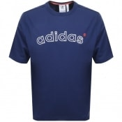 Product Image for adidas Originals 90s ARC Logo T Shirt Navy