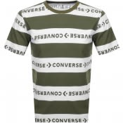 Product Image for Converse Stripe Wordmark Logo T Shirt Green