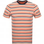 Product Image for Farah Vintage Piper Stripe T Shirt Orange