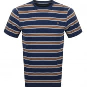 Product Image for Farah Vintage Morgan Stripe T Shirt Navy