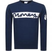 Product Image for Money Block Sig Ape Logo Sweatshirt Navy