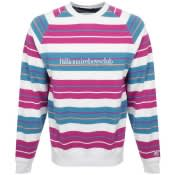 Product Image for Billionaire Boys Club Stripe Logo Sweatshirt White