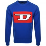 Product Image for Diesel K LogoX Knit Jumper Blue