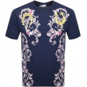 Product Image for Versace Collection Baroque T Shirt Navy