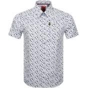 Product Image for Luke 1977 Short Sleeved Casa Moda Shirt White