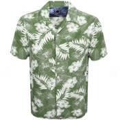 Product Image for Pretty Green Short Sleeve Floral Shirt Green
