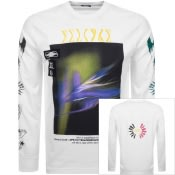 Product Image for Diesel Long Sleeved T Just A3 Logo T Shirt White