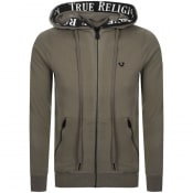 Product Image for True Religion Taped Full Zip Hoodie Brown