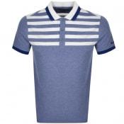 Product Image for Michael Kors Yoke Stripe Polo T Shirt Blue