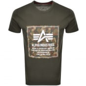 Product Image for Alpha Industries Camo Logo T Shirt Green