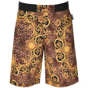 Product Image for Versace Jeans Couture Mixed Print Shorts Black
