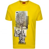 Product Image for HUGO Dennai T Shirt Yellow