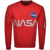 Product Image for Alpha Industries NASA Reflective Sweatshirt Red