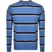 Product Image for Farah Vintage Beck Stripe Sweatshirt Blue