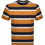 Product Image for Farah Vintage Celtic Stripe T Shirt Gold