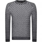 Product Image for BOSS Casual Akalbe Knit Jumper Navy