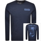 Product Image for Edwin Crew Neck Harmony Long Sleeve T Shirt Navy