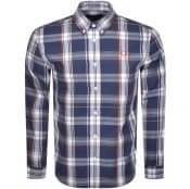 Product Image for Fred Perry Long Sleeved Twill Check Shirt Blue