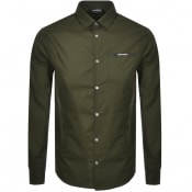 Product Image for Emporio Armani Long Sleeved Logo Shirt Green