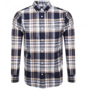 Product Image for Gant Long Sleeve Brushed Oxford Check Shirt Navy
