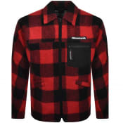 Product Image for Billionaire Boys Club Overshirt Fleece Jacket Red