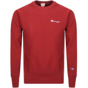 Product Image for Champion Crew Neck Logo Sweatshirt Red