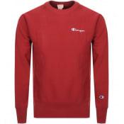 Product Image for Champion Crew Neck Logo Sweatshirt Red