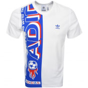 Product Image for adidas Originals Side Scarf T Shirt White