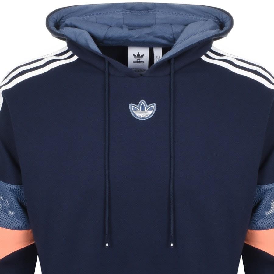 Trefoil Logo Hoodie Blue