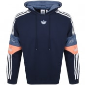 Product Image for adidas Originals Trefoil Logo Hoodie Navy