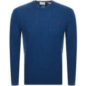Product Image for Timberland Lambswool Cable Knit Jumper Blue