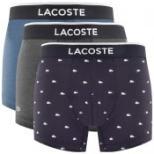 Product Image for Lacoste Underwear Triple Pack Boxer Trunks Navy