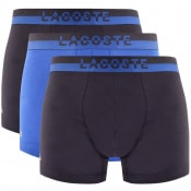 Product Image for Lacoste Underwear Triple Pack Boxer Trunks Blue