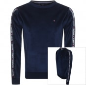 Product Image for Tommy Hilfiger Lounge Track Top Sweatshirt Navy