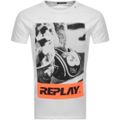 Product Image for Replay Crew Neck Logo T Shirt White