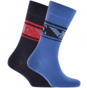 Product Image for Emporio Armani 2 Pack Socks Blue