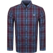 Product Image for Fred Perry Long Sleeved Shirt Burgundy