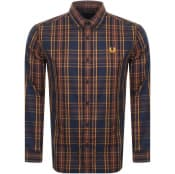 Product Image for Fred Perry Long Sleeved Shirt Navy