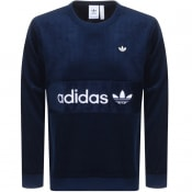 Product Image for adidas Originals Cord Velour Sweatshirt Navy