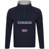 Product Image for Napapijri Ted Half Zip Logo Fleece Navy