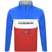 Product Image for Napapijri Ted Half Zip Logo Fleece Red