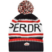 Product Image for Superdry Logo Beanie Hat NAvy