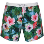 Product Image for BOSS HUGO BOSS Piranha Floral Swim Shorts Green