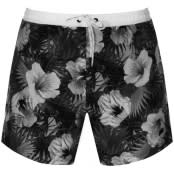 Product Image for BOSS HUGO BOSS Piranha Floral Swim Shorts Black